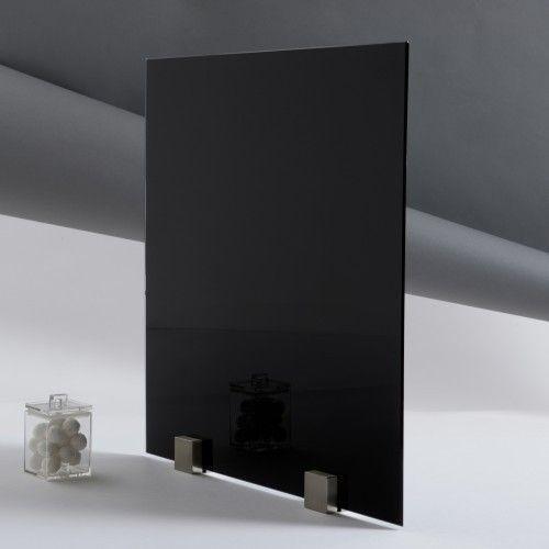 kit tableau aimant en verre noir format carr. Black Bedroom Furniture Sets. Home Design Ideas