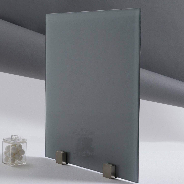 kit tableau aimant en verre gris format carr. Black Bedroom Furniture Sets. Home Design Ideas