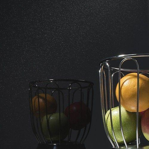 kit tableau aimant en verre noir paillet format rond. Black Bedroom Furniture Sets. Home Design Ideas