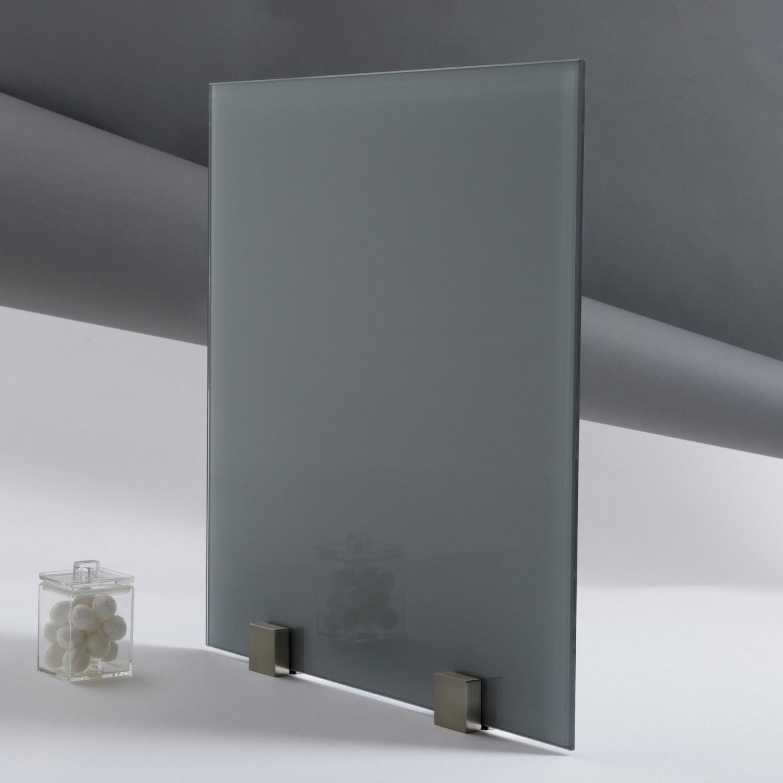 fond de hotte verre trempé laqué gris zen épaisseur 6 mm