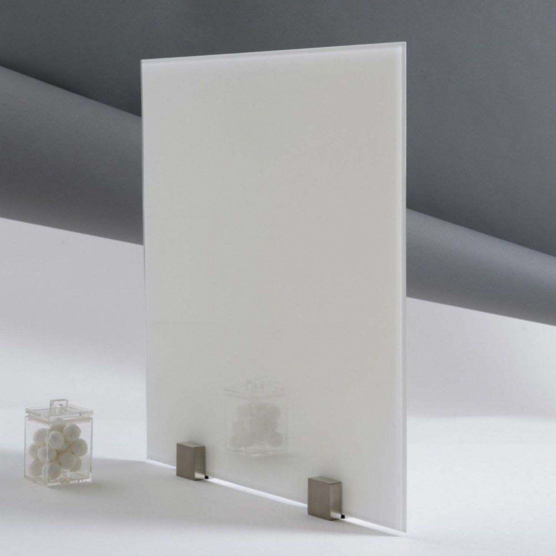 fond de hotte verre trempé laqué blanc épaisseur 6 mm