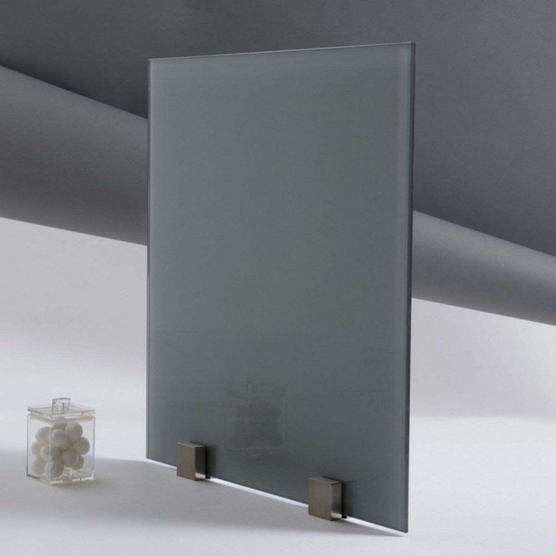 fond de hotte verre trempé laqué gris zen épaisseur 4 mm