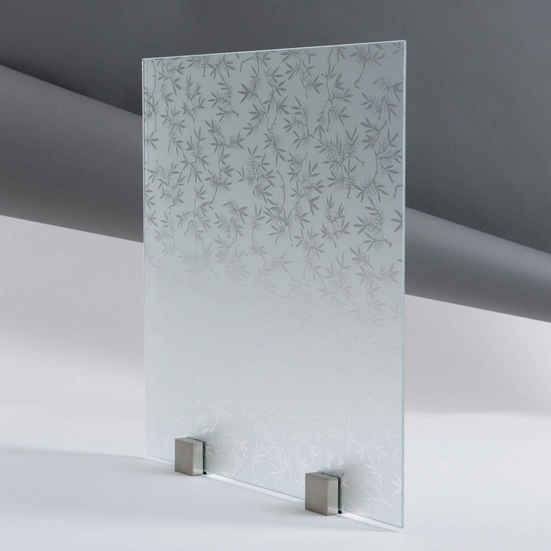 verre d poli acide motif olivier paisseur 4 mm. Black Bedroom Furniture Sets. Home Design Ideas