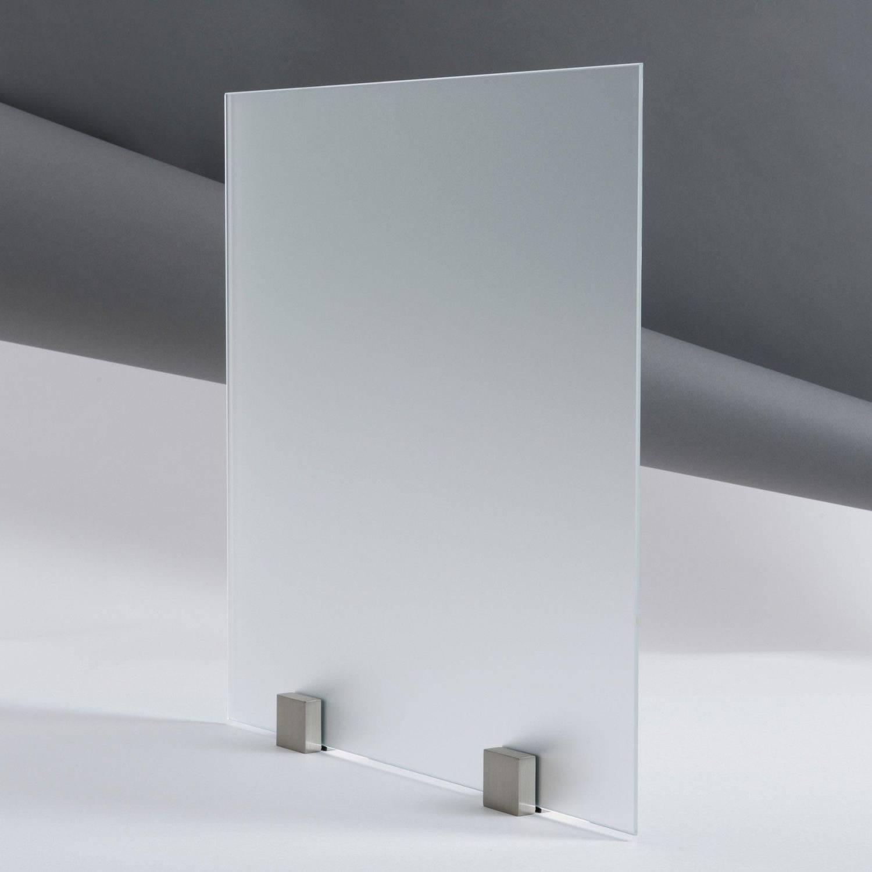 kit paroi de douche en verre tremp d poli acide avec accessoires de pose. Black Bedroom Furniture Sets. Home Design Ideas