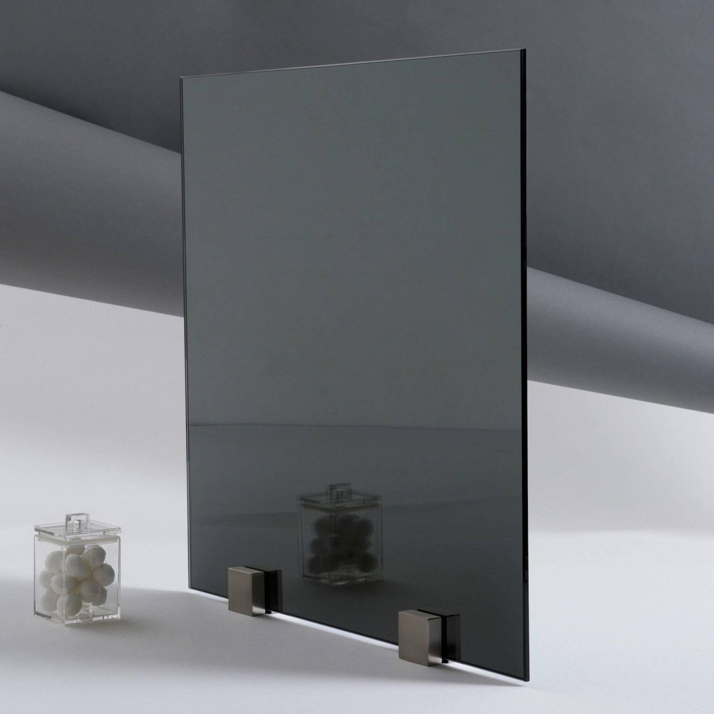 Miroir de couleur gris paisseur 6 mm for Miroir gris argent