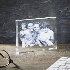 Bloc photo en <b>verre gravé</b> 2D <b>grand</b> format
